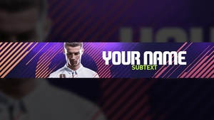 FIFA 18 YOUTUBE BANNER TEMPLATE
