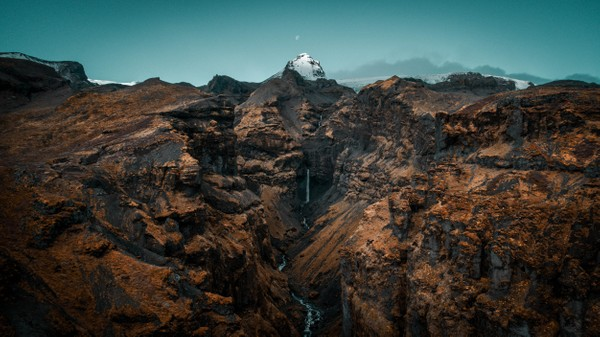 Secret canyon in Iceland