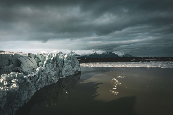 Fallsjökull glacier on the southcoast of Iceland