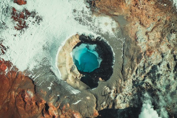Crater in the south of Iceland. Part 1