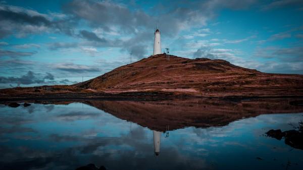 Lighthouse on Reykjanes, Iceland