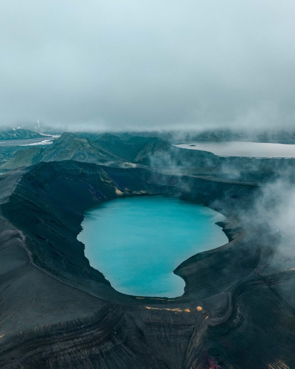 Hnausapollur crater, in the highlands of Iceland!