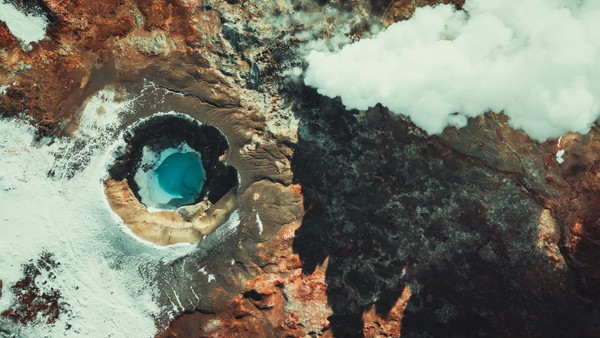 Crater in the south of Iceland. Part 3