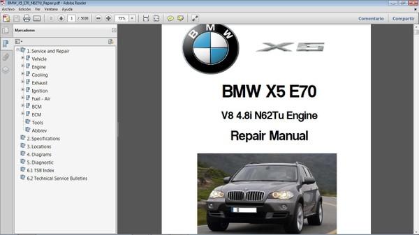 BMW X5 E70 V8 4.8  Workshop Repair Manual - Manual de Taller