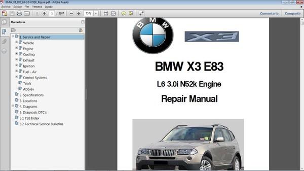 BMW X3 E83 Workshop Repair Manual - Manual de Reparación