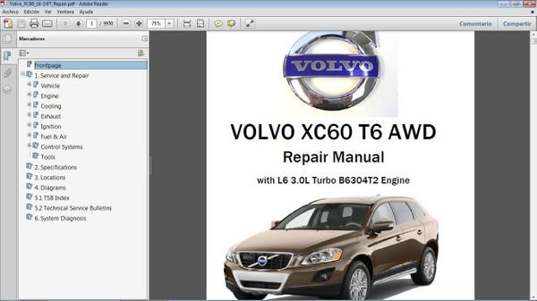 VOLVO XC60 T6 AWD Workshop Repair Manual - Manual de Taller