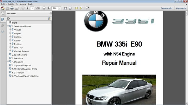 BMW 335i E90 motor N54 - Manual de Taller - Workshop Repair Manual