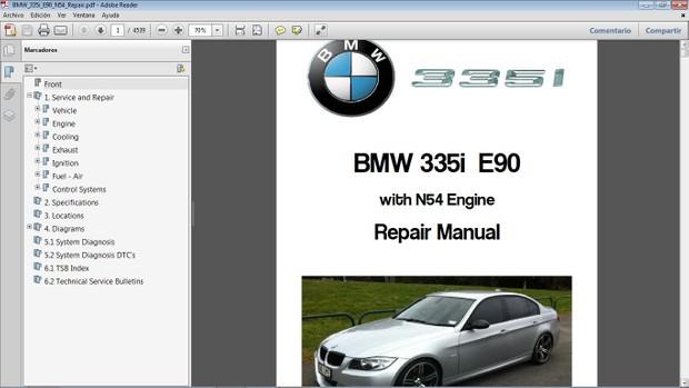 BMW 335i E90 motor N54 - Manual de Taller - Workshop Repair Manual