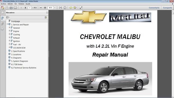 CHEVROLET MALIBU Manual de Taller - Repair Manual