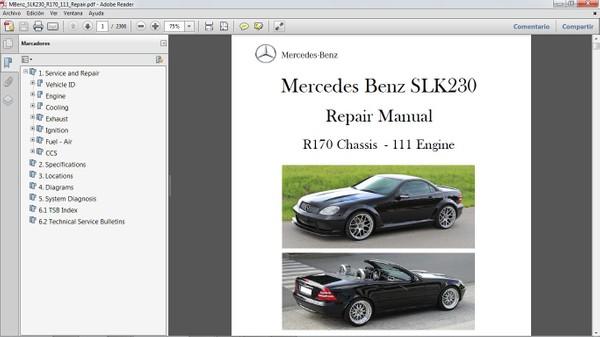 MERCEDES BENZ SLK230 R170 Workshop Repair Manual - Manual de Taller