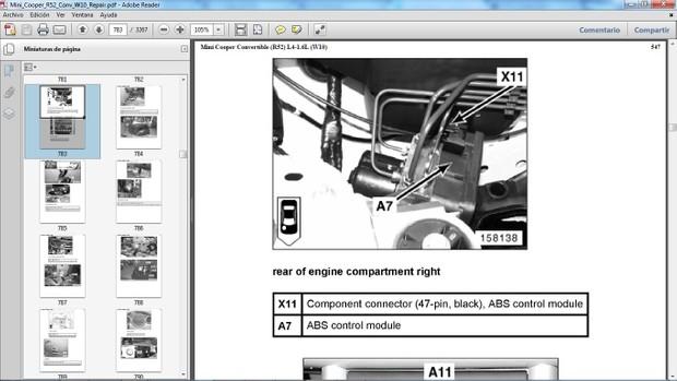 MINI COOPER R52 Convertible 2005-2008 Motor W10 Manual de Taller - Workshop Repair