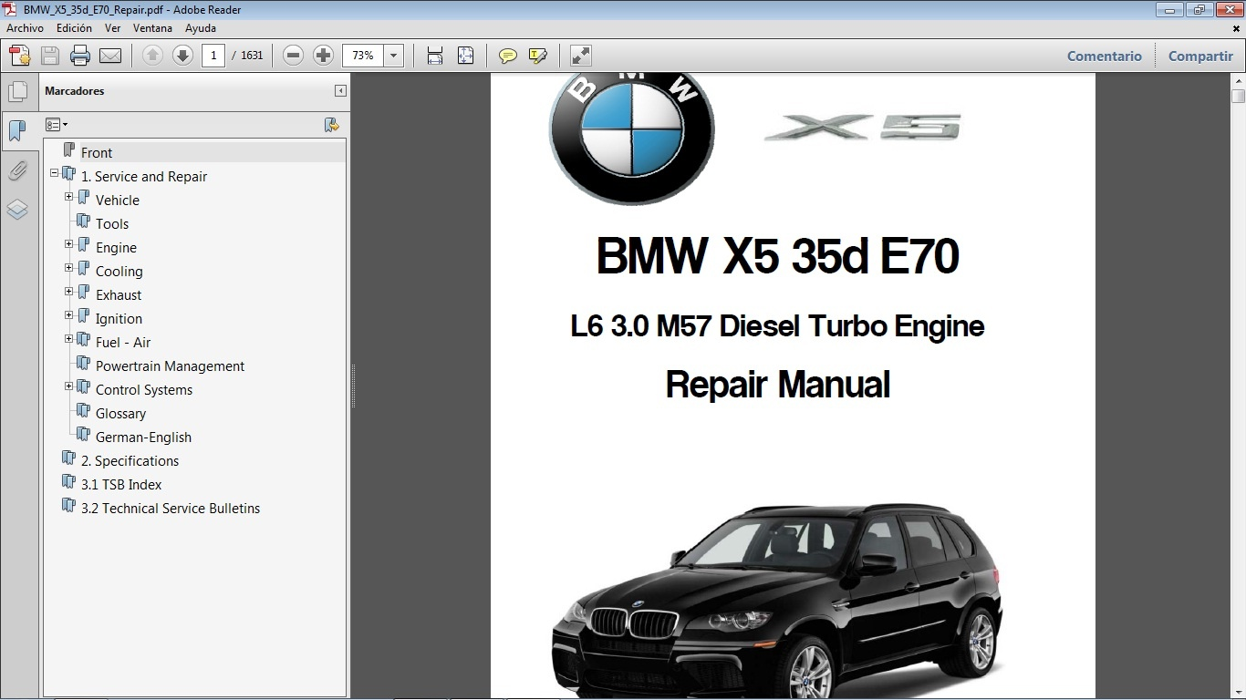 bmw x5 35d e70 workshop repair manual car repair manuals rh sellfy com bmw x5 repair manual bmw e60 repair manual