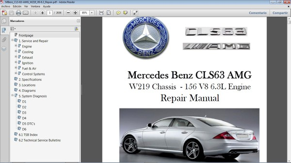 MERCEDES BENZ CLS63 AMG W219 Manual de Taller - Workshop Manual