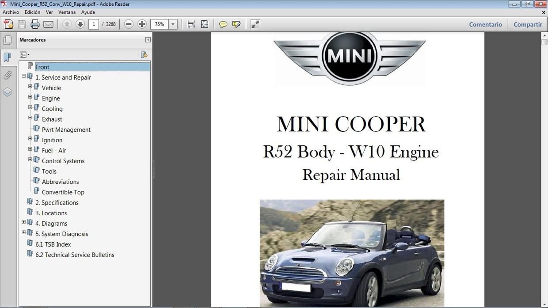 Mini Cooper R52 Convertible 2005