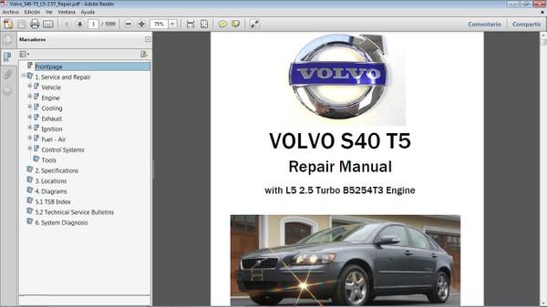 VOLVO S40 Workshop Repair Manual - Manual de Taller