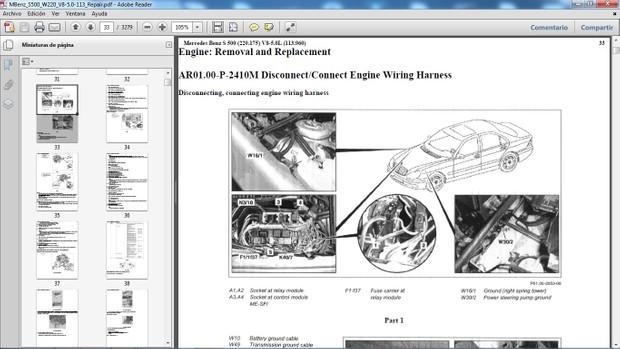 MERCEDES BENZ S500 W220 Manual de Taller - Workshop Repair