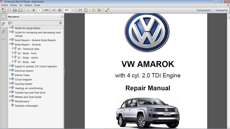 Vw Amarok 2 0l Tdi Workshop Repair Manual