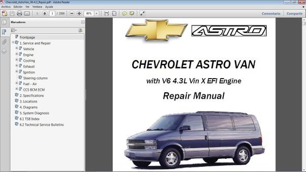 CHEVROLET ASTRO VAN Manual de Taller - Repair Manual