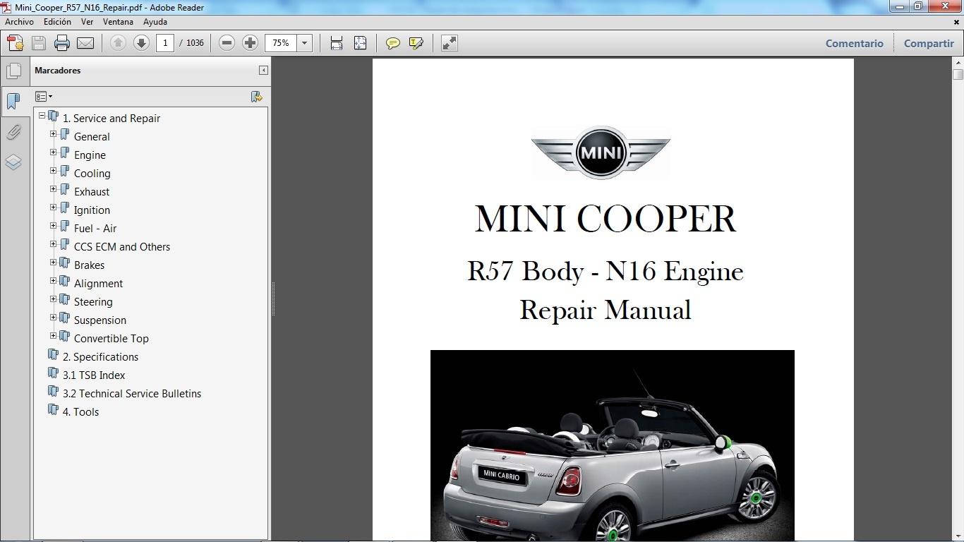 mini cooper s r53 workshop manual pdf