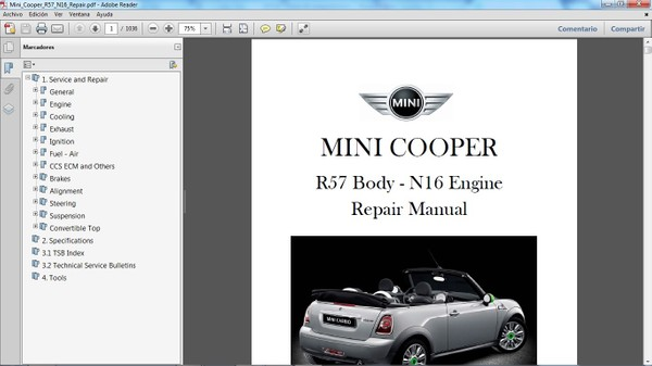 MINI COOPER R57 2011 en adelante - Manual de Taller - Workshop Manual