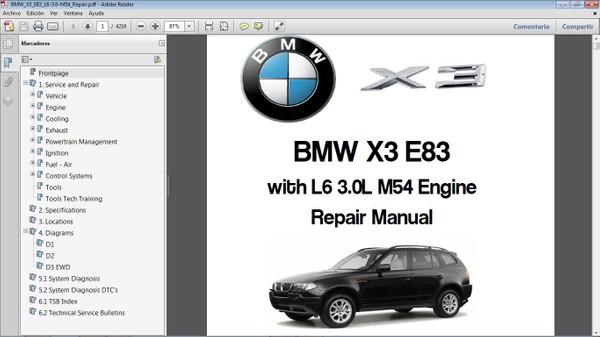 BMW X3 E83 L6 3.0 Workshop Repair Manual - Manual de Taller