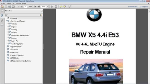 BMW X5 4.4i E53  Workshop Repair Manual - Manual de Taller