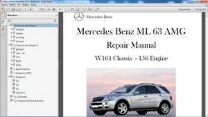 MERCEDES BENZ ML 63 AMG W164 Manual de Taller - Workshop Repair