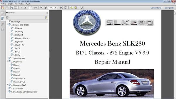 MERCEDES BENZ SLK280 R171 Workshop Repair Manual - Manual de Taller