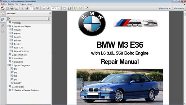 BMW M3 E36 L6 3.0  Workshop Repair Manual - Manual de Taller