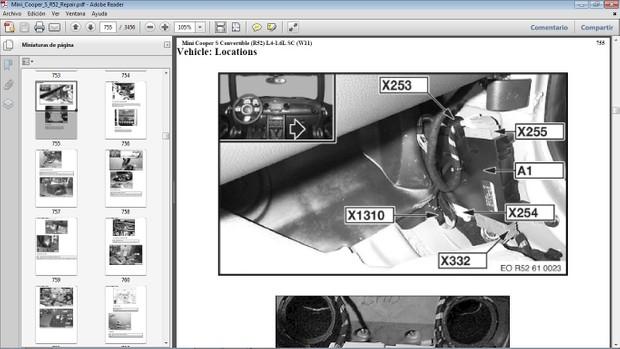 MINI COOPER S R52 Workshop Repair Manual - Manual de Reparación