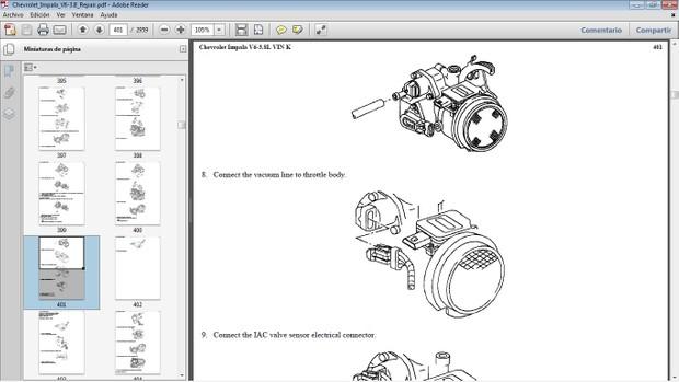 CHEVROLET IMPALA Workshop Repair Manual - Manual de Reparación