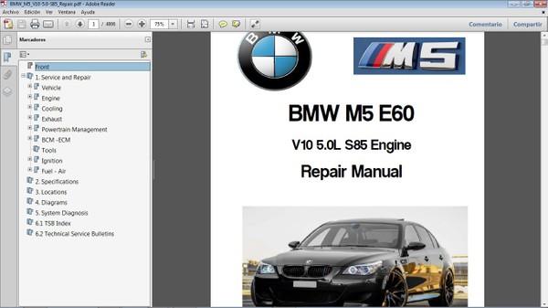 BMW M5 E60 V10 5.0  Workshop Repair Manual - Manual de Taller