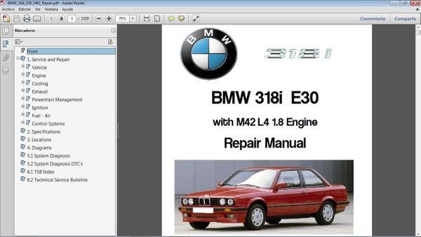 BMW 318i E30 Workshop Repair Manual - Manual de Taller