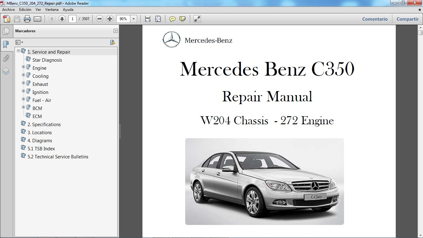 Mercedes Benz Repair Diagrams Just Another Wiring Diagram Blog Engine Cooling C350 W204 Manual De Taller Workshop Re Rh Sellfy Com Vacuum Systems Fuse