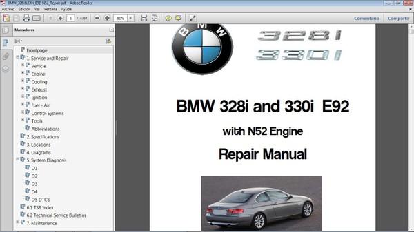 BMW 328i&330i E92 L6 3.0  Workshop Repair Manual - Manual de Taller