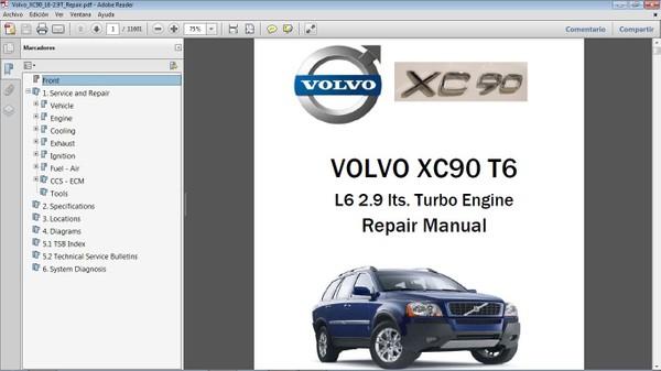 VOLVO XC90 T6 Workshop Repair Manual - Manual de Taller