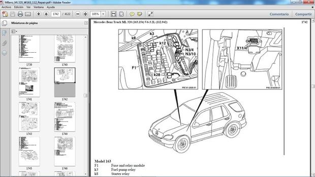 MERCEDES BENZ ML320 W163 Manual de Taller - Workshop Repair