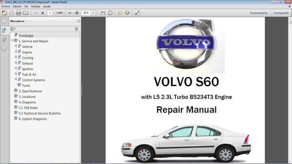 VOLVO S60 2.3T Workshop Repair Manual - Manual de Taller