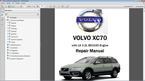VOLVO XC70 L6 3.2 Workshop Repair Manual - Manual de Taller