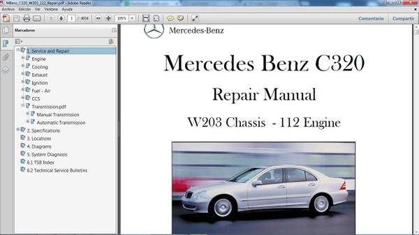 MERCEDES BENZ C320 W203 Manual de Taller - Workshop Repair