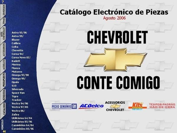CHEVROLET Catálogo Electrónico de Piezas - Despiece