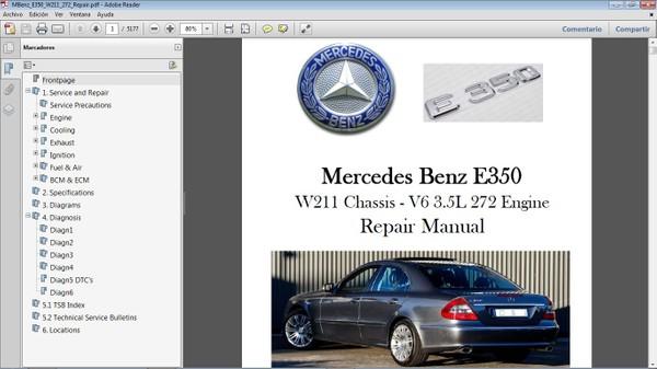 MERCEDES BENZ E350 W211 - Manual de Taller - Workshop Repair Manual