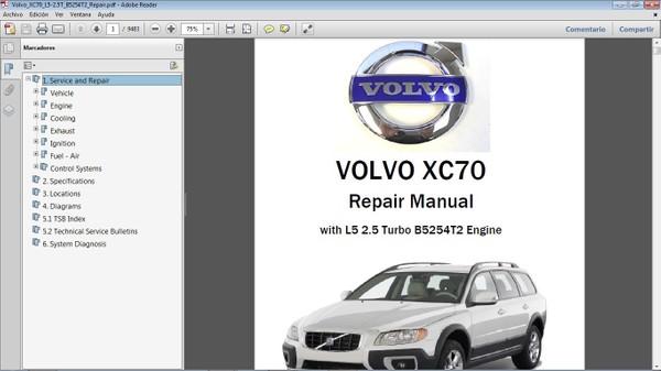 VOLVO XC70 2.5T Workshop Repair Manual - Manual de Taller