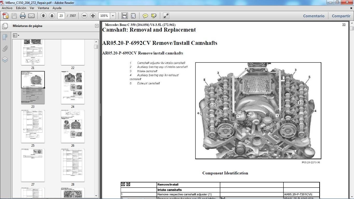 Mercedes Benz C350 W204 Manual De Taller