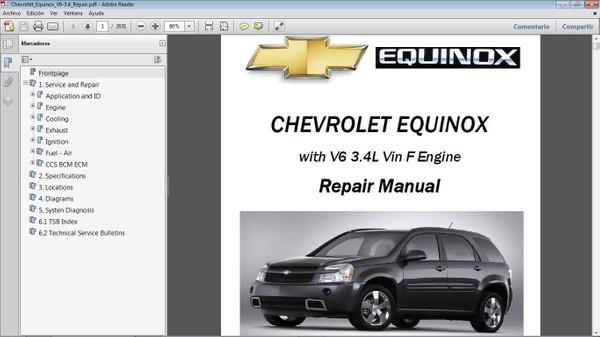 CHEVROLET EQUINOX Manual de Taller - Workshop Repair Manual