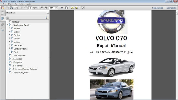VOLVO C70 2.5T Workshop Repair Manual - Manual de Taller