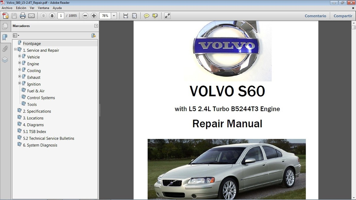 Volvo S60 2 4 Workshop Repair Manual