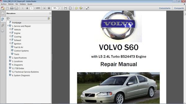 VOLVO S60 2.4 Workshop Repair Manual - Manual de Taller