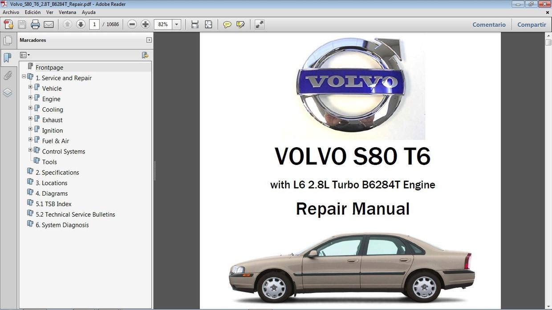 volvo s80 t6 2.8 workshop repair - manual de taller - car.repair.manuals  sellfy