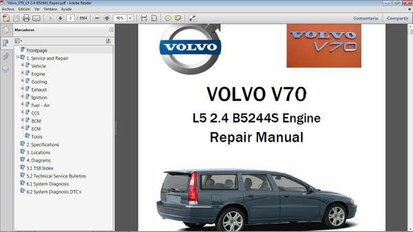 VOLVO V70 Workshop Repair Manual - Manual de Taller